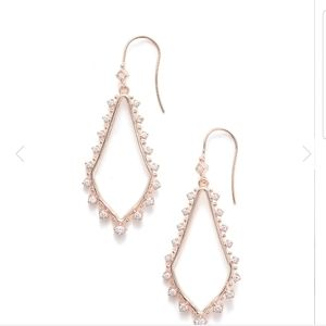 Kendra Scott Rose Gold Bea earrings